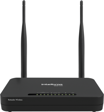Roteador Intelbras Wireless Win300 N300 2.4Ghz Duas Antenas Preto